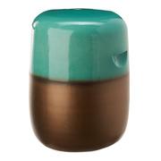 Zweifarbiger Keramik-Hocker