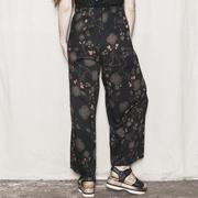 Luftige Hose mit zartem Print