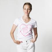 'From Zurich With Love'-Shirt mit Neon