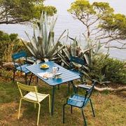 Einzelstück: Gartenstuhl 'Luxembourg' in Acapulcoblau