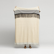 Plaid 'Aymara Stripes' aus Alpakawolle