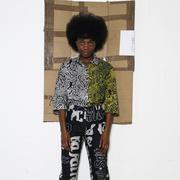 Eklektische Print-Bluse von 'Poplin Project'
