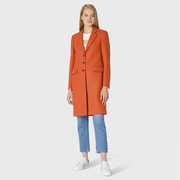 Klassischer Woll-Mantel von 'PS Paul Smith' in Orange