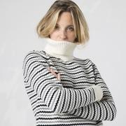 Merino-Rollkragen mit Streifen von 'Klitmøller'