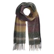 Lieblings-Karo-Wollschal gelb/grün/violett