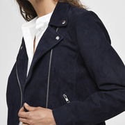 Lieblings-Bikerjacke in navy Wildleder