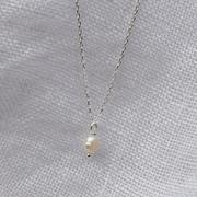 Für die Liebste: Halskette mit Süsswasserperle