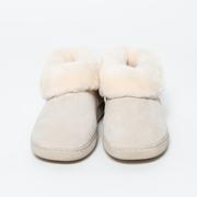 Warme Lammfell-Pantoffeln in Beige