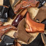 Wundeschöne Metallic-Boots von 'Anthology Paris'