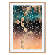 Poster 'Ombre Dream Cubes'
