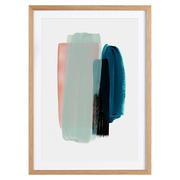 Abstraktes Poster 'Rosa und Blaugrün'
