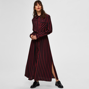 Cool-elegantes Kleid mit Streifen