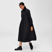Puristisches Midi-Kleid in Schwarz