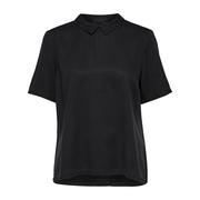 Raffiniertes Blusen-Top in Schwarz