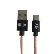 USB-C Ladekabel von 'Design Letters'