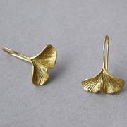 Organische Ohrringe 'Gingko'