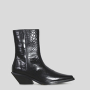 Toughe Boots 'Vita Croco' in Schwarz