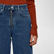 Weite Denim mit Zipper