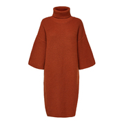 Cooler Strick-Dress in Kupfer