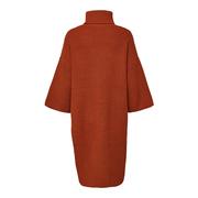 Warmer Strick-Dress mit Rippen
