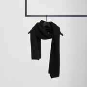 Nachhaltiger Strick-Schal in Schwarz