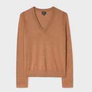 Liebster Feinstrick-Pullover in Camel