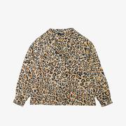 Wunderschöne Baumwoll-Bluse mit Leoprint