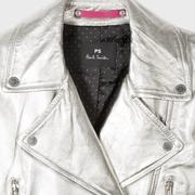 Silberne Lederjacke von 'PS Paul Smith'