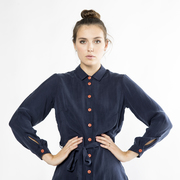'Stella Shirtdress' von Komana in Navy
