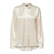 Schimmernde Bluse in warmem Offwhite
