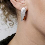 Kunstvolle Ohrringe 'Karneol Orange'