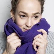 Warmweicher Merino-Schal in Farben