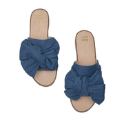 Tolle Slide mit Denim-Bow