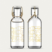 Trinkflasche 'Fill Me Bottle Gold'