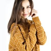 Fein gemusterter Merino-Pullover