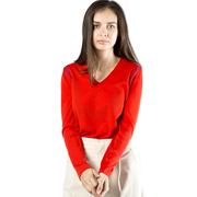 Liebster Feinstrick-Pullover in Rot