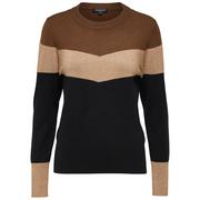 Feinstrick-Pullover mit Colorblock & Lurex