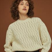 Zartwarmer Pullover mit Ajourémuster