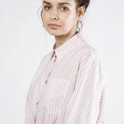 Rosé gestreiftes Hemd von 'PS Paul Smith'