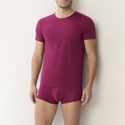 Für Ihn: 'Zimmerli'-T-Shirt in Mulberry