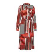 Cooles Print-Kleid mit Gürtel