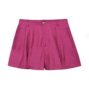 Elegant-luftige Shorts in Fuchsia