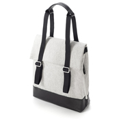 Small Tote Raw Blend Leather Canvas von 'Qwstion'