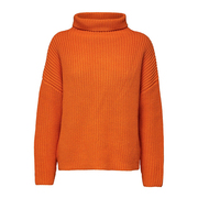 Rippstrick-Pullover in Orange