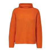 Rippstrick-Pullover in Orange