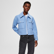Nachhaltige Jacke in hellem Blau