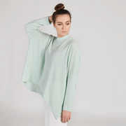Entspannter Pullover in Aqua