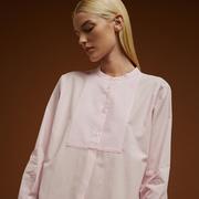 Feminine Baumwoll-Bluse in Rosé