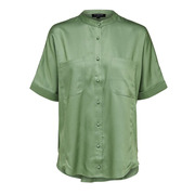 Schimmernde Bluse in Grün