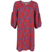 Fliessendes Kleid mit buntem Print
